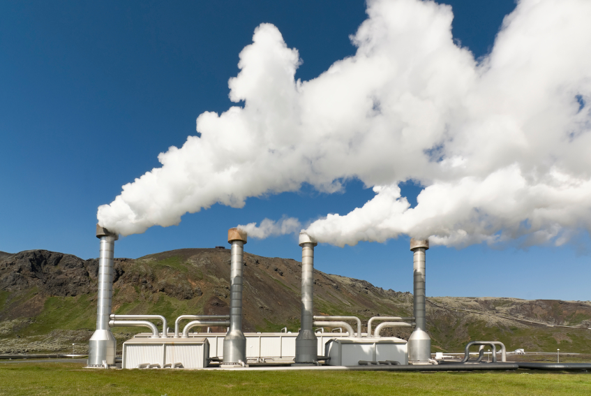 A Geothermal power plant does not take up much space