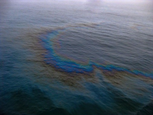oil spill in sea