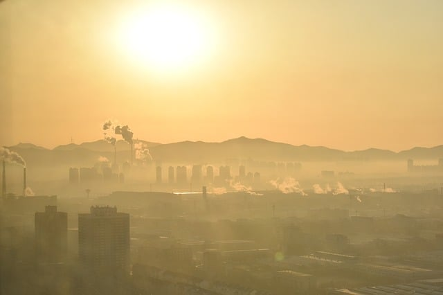 china-yantai-city-smog-sunrise