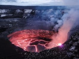 molten-volcano-lava-evening