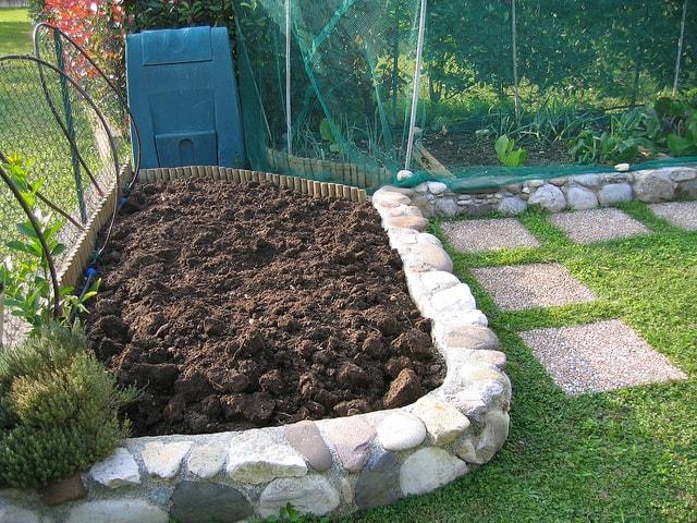 Compost in garden