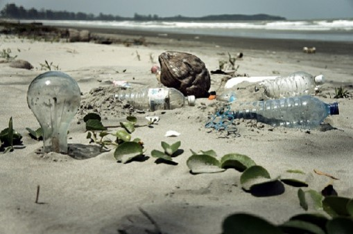 pollution on beach