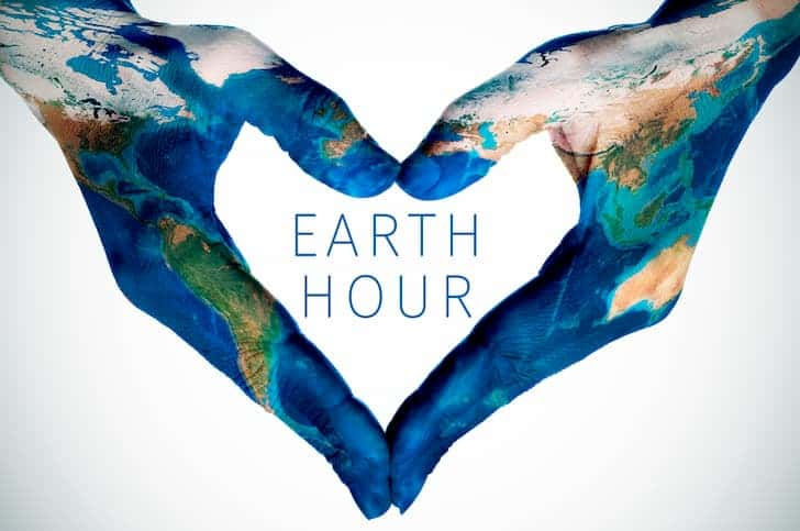 text-earth-hour-and-woman