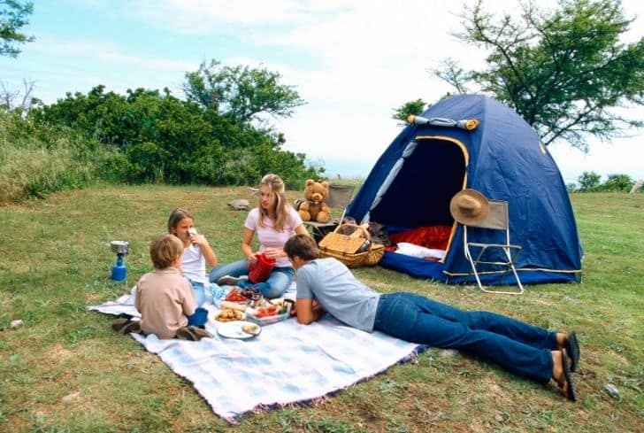 family-on-camping