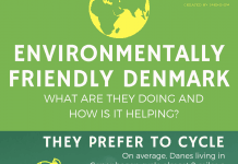 Environmentally friendly Denmark infographic