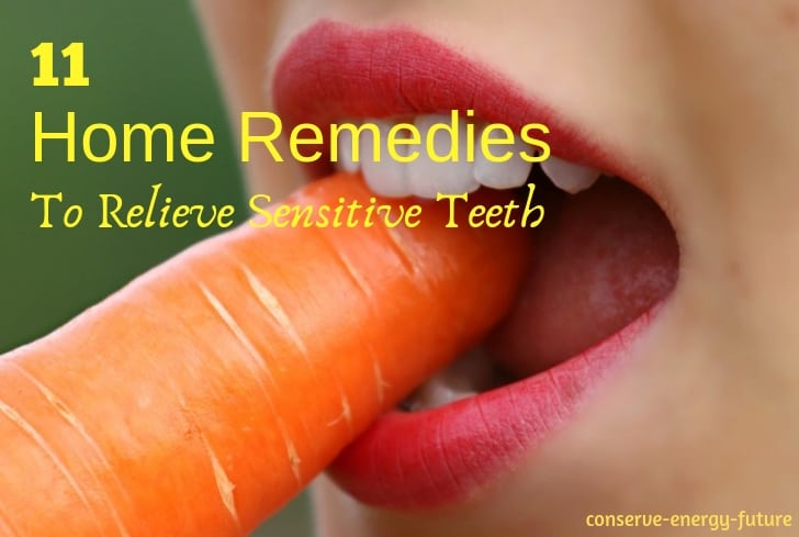 home remedies to relieve sensitive teeth