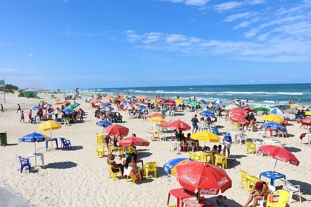 beach summer umbrella colors