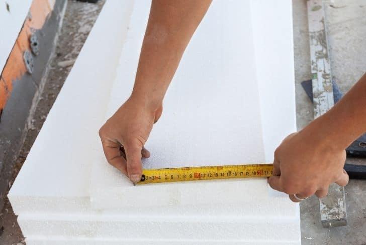 measuring-styrofoam-board