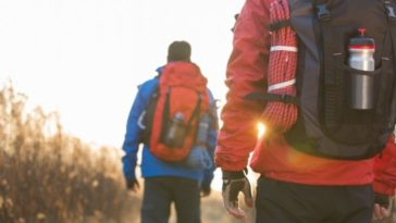 male-backpackers